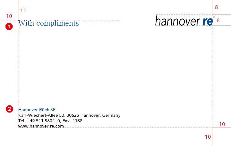 Hannover Re Group Corporate Design guidelines Compliment slips – Compliment Slip Template